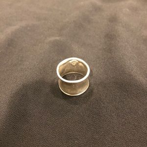 Silpada wide band sterling silver ring